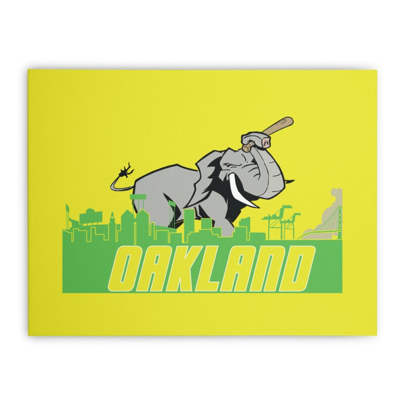 Oakland Home Stretched Canvas by Mike Hampton's T-Shirt Shop
