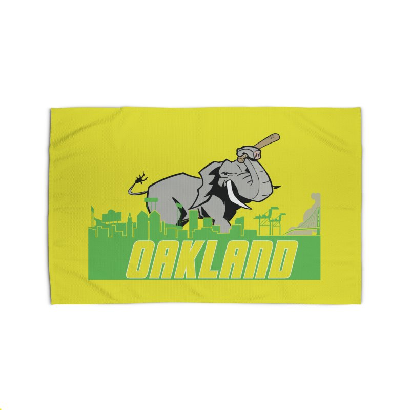 Oakland Home Rug by Mike Hampton's T-Shirt Shop