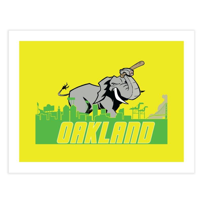 Oakland Home Fine Art Print by Mike Hampton's T-Shirt Shop