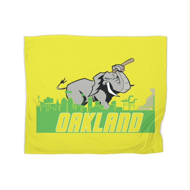 Oakland Home Fleece Blanket Blanket by Mike Hampton's T-Shirt Shop