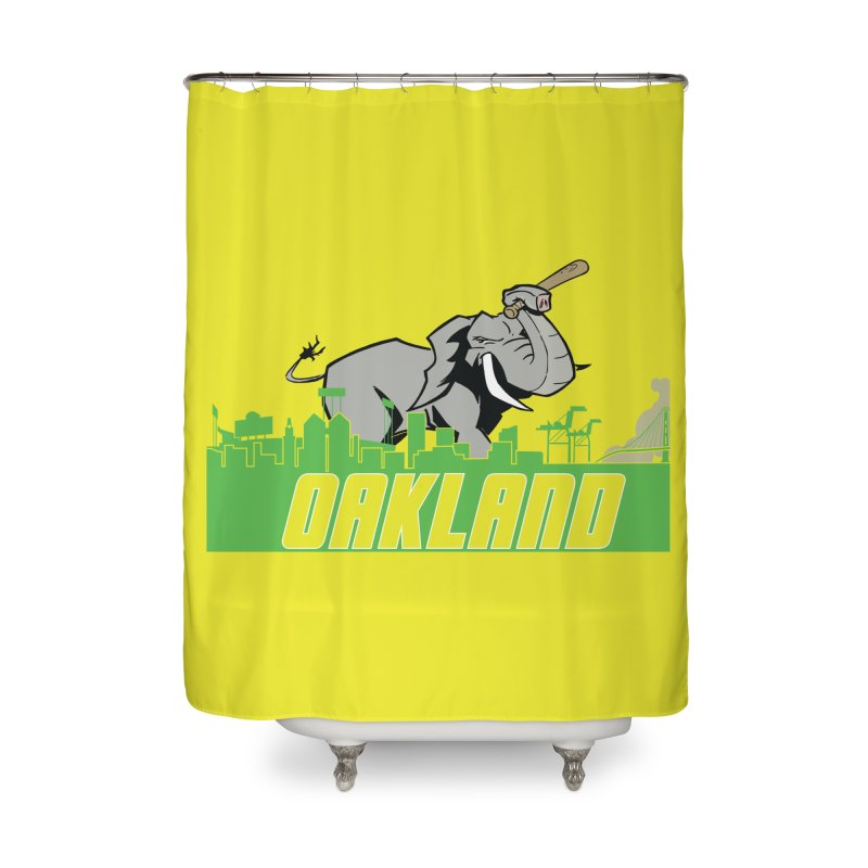 Oakland Home Shower Curtain by Mike Hampton's T-Shirt Shop