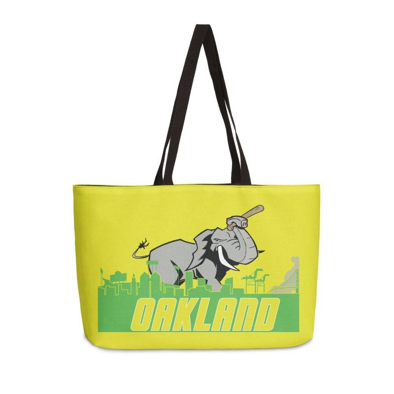 Oakland Accessories Weekender Bag Bag by Mike Hampton's T-Shirt Shop