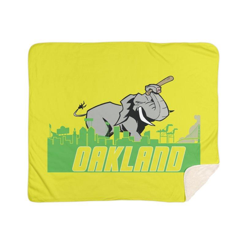 Oakland Home Sherpa Blanket Blanket by Mike Hampton's T-Shirt Shop