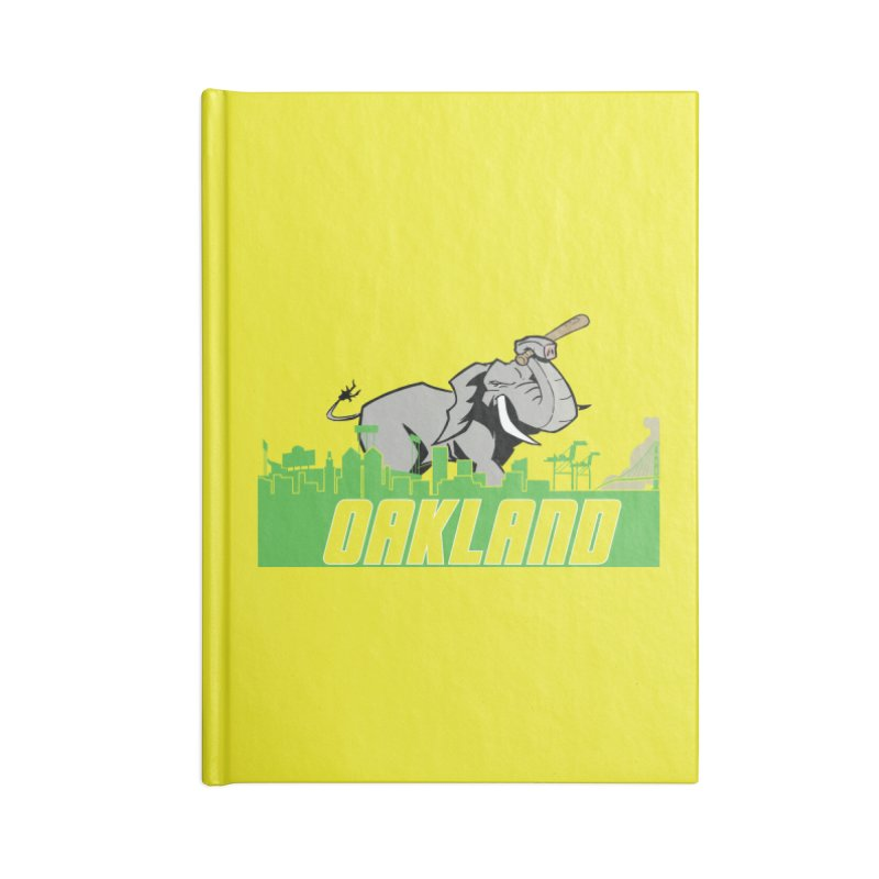 Oakland Accessories Lined Journal Notebook by Mike Hampton's T-Shirt Shop