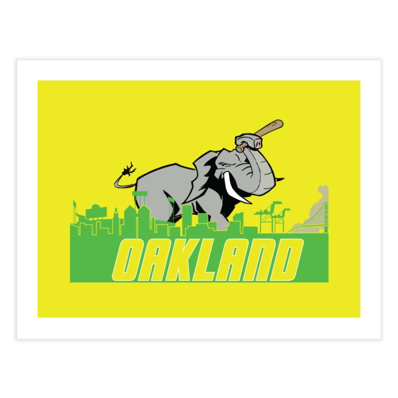 Oakland Home Fine Art Print by Mike Hampton's T-Shirt Shop