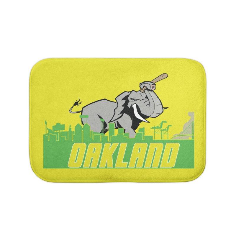 Oakland Home Bath Mat by Mike Hampton's T-Shirt Shop