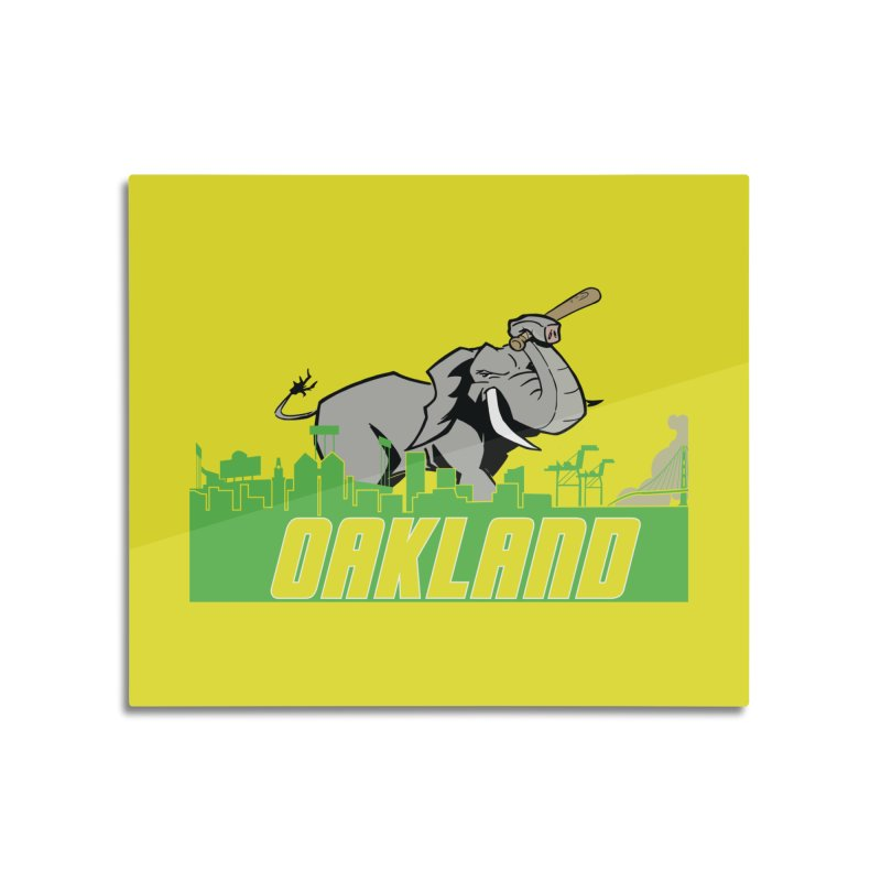 Oakland Home Mounted Aluminum Print by Mike Hampton's T-Shirt Shop