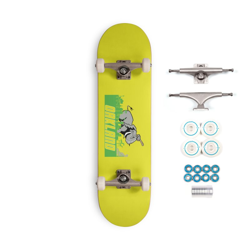Oakland Accessories Complete - Basic Skateboard by Mike Hampton's T-Shirt Shop