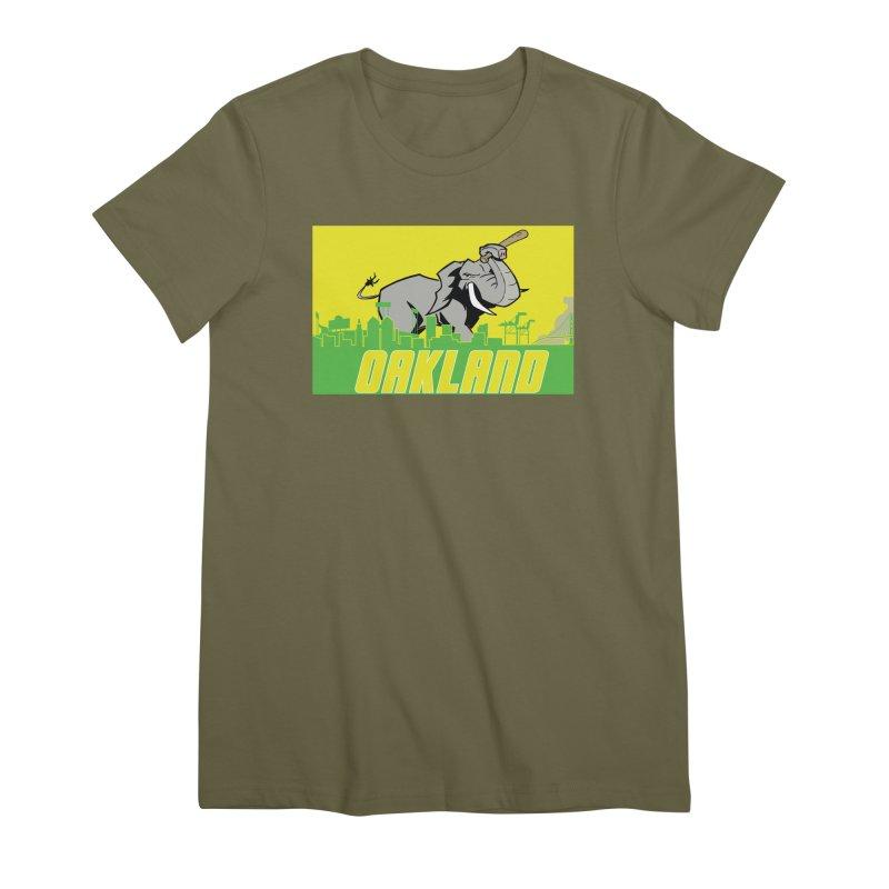 Oakland Women's Premium T-Shirt by Mike Hampton's T-Shirt Shop