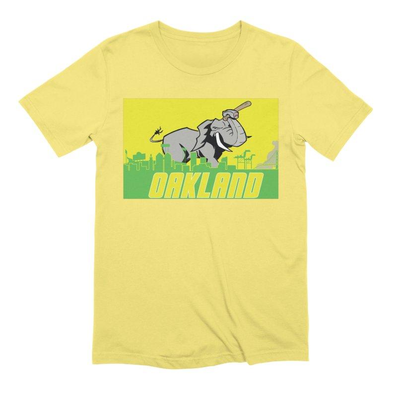 Oakland Men's Extra Soft T-Shirt by Mike Hampton's T-Shirt Shop
