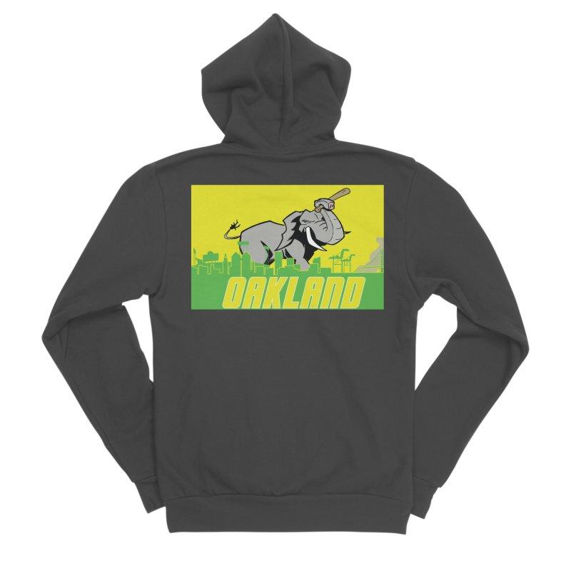 Oakland Women's Sponge Fleece Zip-Up Hoody by Mike Hampton's T-Shirt Shop
