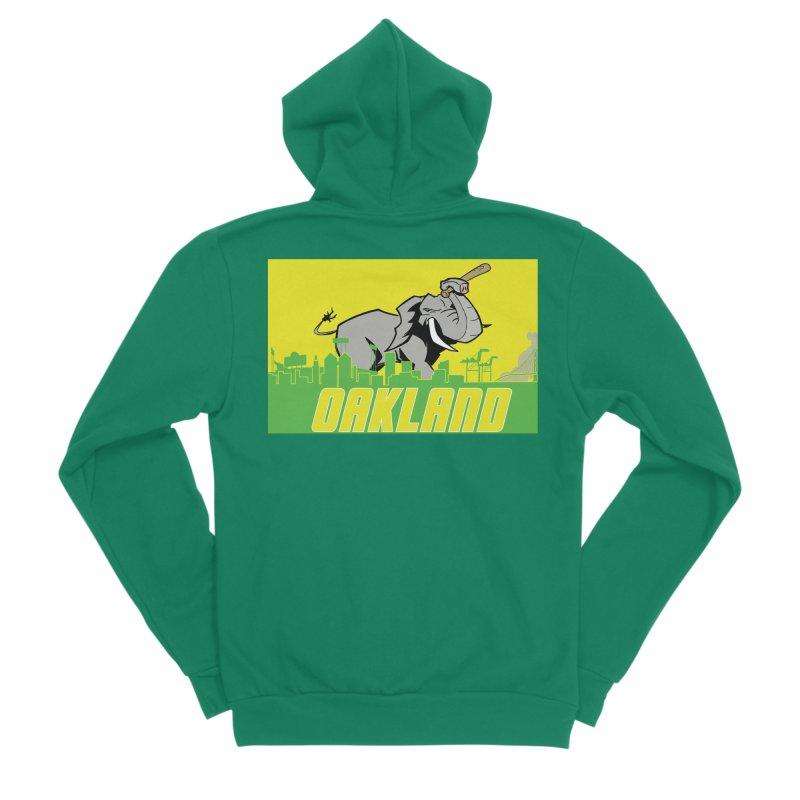 Oakland Men's Sponge Fleece Zip-Up Hoody by Mike Hampton's T-Shirt Shop