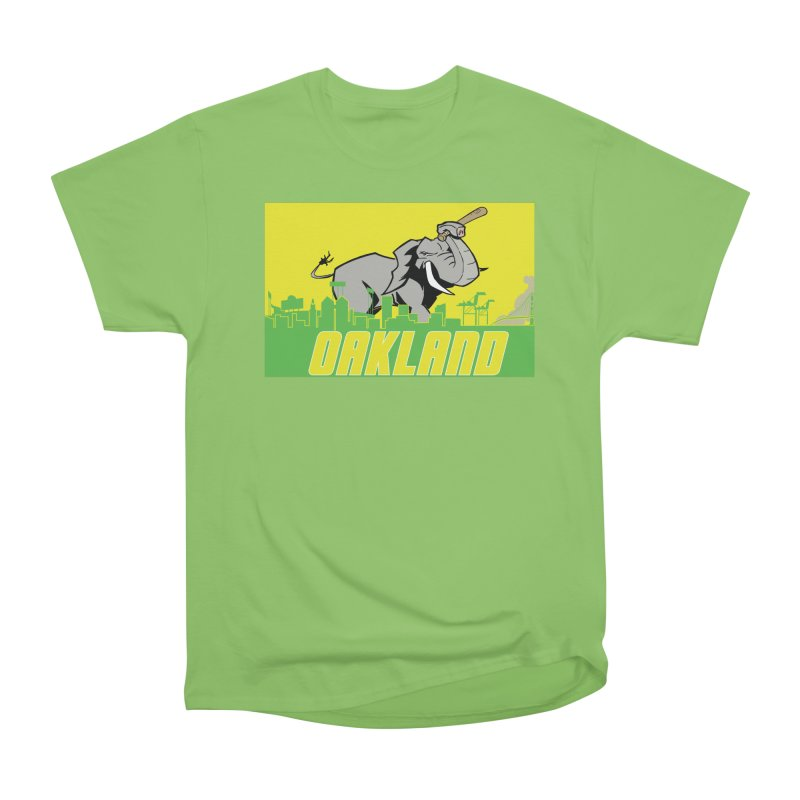 Oakland Men's Heavyweight T-Shirt by Mike Hampton's T-Shirt Shop