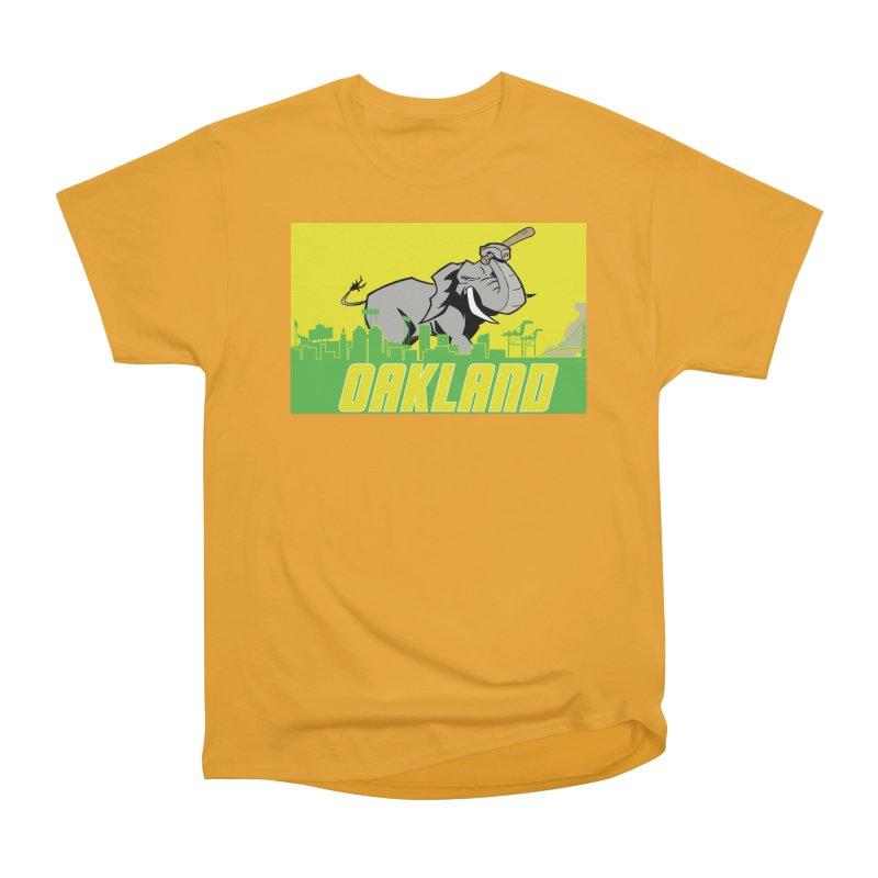 Oakland Men's Heavyweight T-Shirt by Mike Hampton's T-Shirt Shop