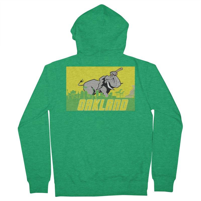 Oakland Men's French Terry Zip-Up Hoody by Mike Hampton's T-Shirt Shop