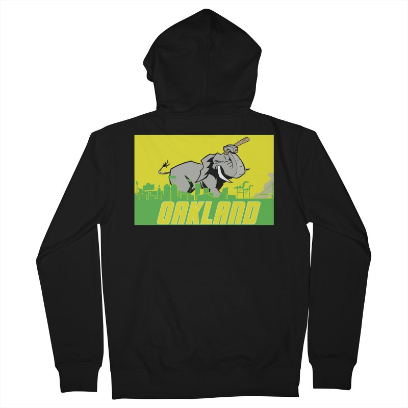 Oakland Men's French Terry Zip-Up Hoody by Mike Hampton's T-Shirt Shop