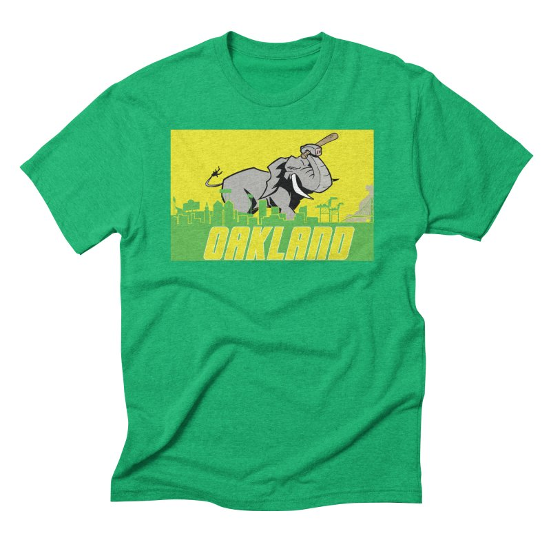 Oakland Men's Triblend T-Shirt by Mike Hampton's T-Shirt Shop