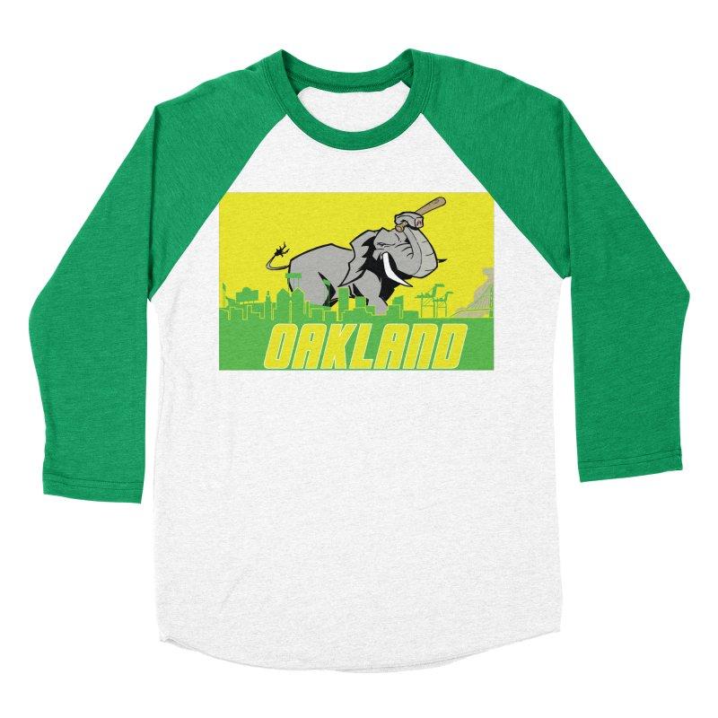 Oakland Women's Baseball Triblend Longsleeve T-Shirt by Mike Hampton's T-Shirt Shop