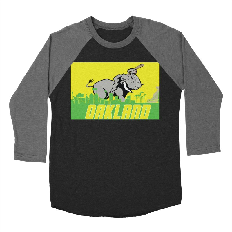 Oakland Men's Baseball Triblend Longsleeve T-Shirt by Mike Hampton's T-Shirt Shop