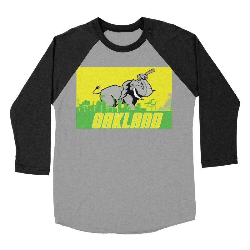 Oakland Men's Baseball Triblend Longsleeve T-Shirt by Mike Hampton's T-Shirt Shop