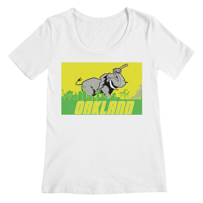 Oakland Women's Regular Scoop Neck by Mike Hampton's T-Shirt Shop