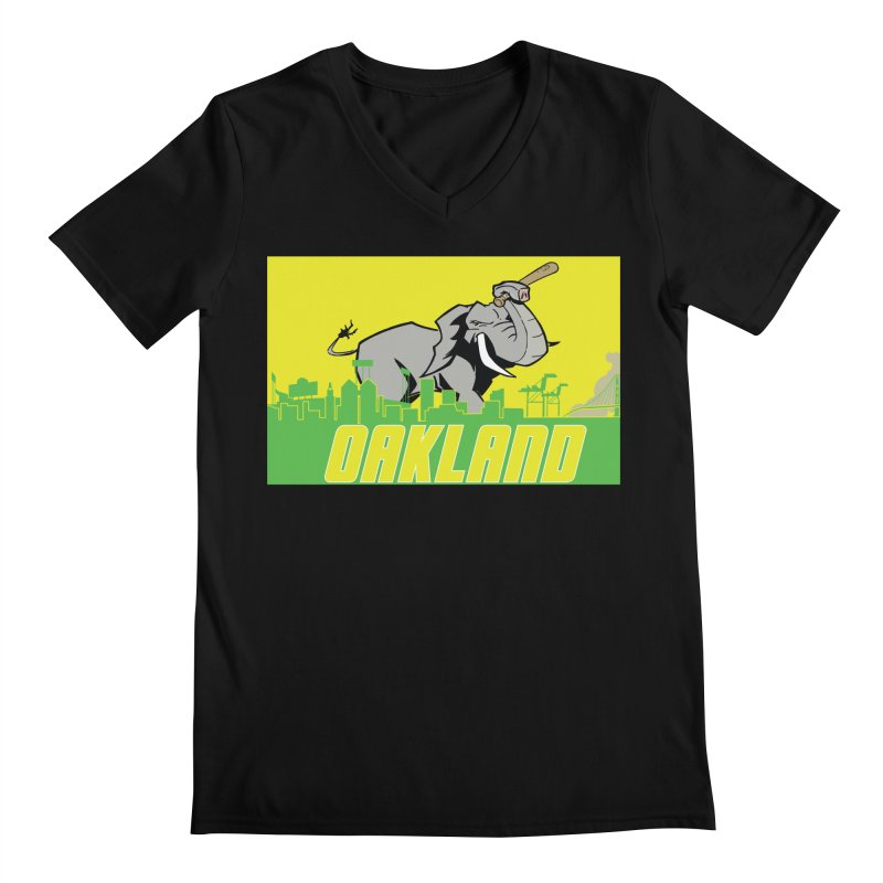 Oakland Men's V-Neck by Mike Hampton's T-Shirt Shop