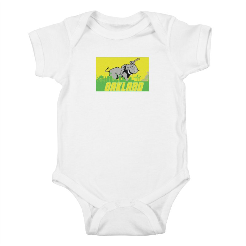 Oakland Kids Baby Bodysuit by Mike Hampton's T-Shirt Shop
