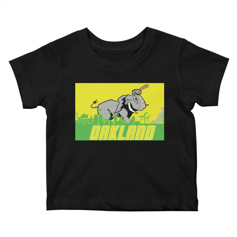 Oakland Kids Baby T-Shirt by Mike Hampton's T-Shirt Shop