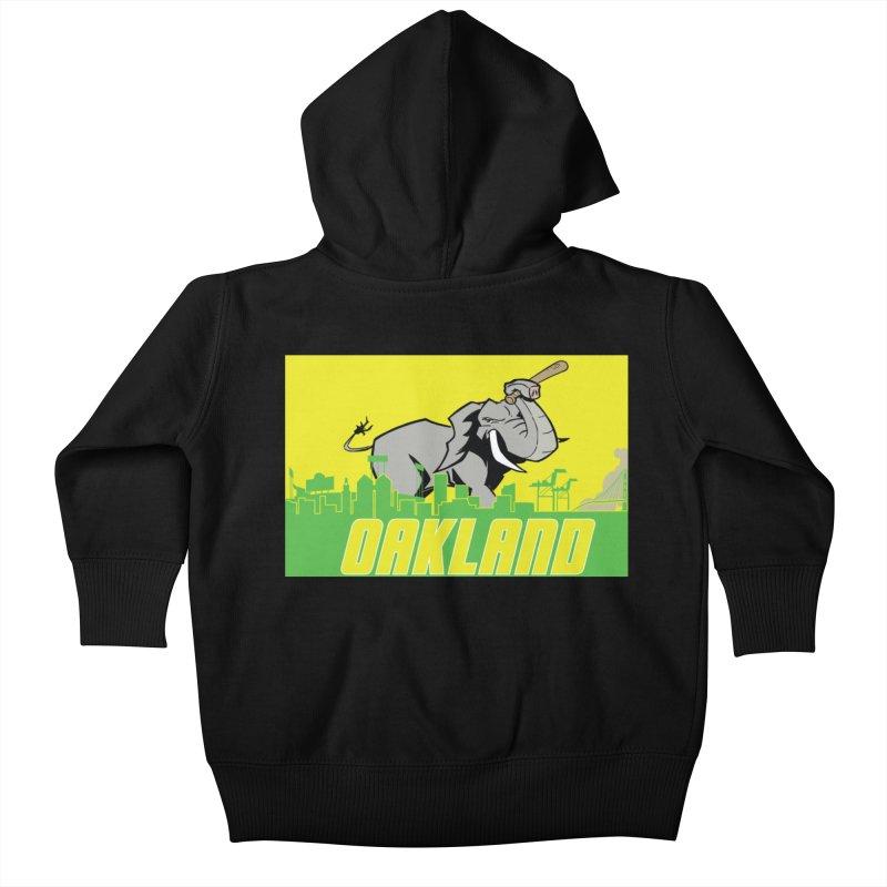 Oakland Kids Baby Zip-Up Hoody by Mike Hampton's T-Shirt Shop
