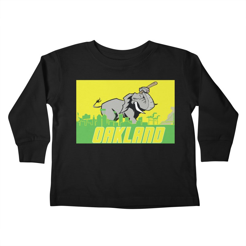 Oakland Kids Toddler Longsleeve T-Shirt by Mike Hampton's T-Shirt Shop