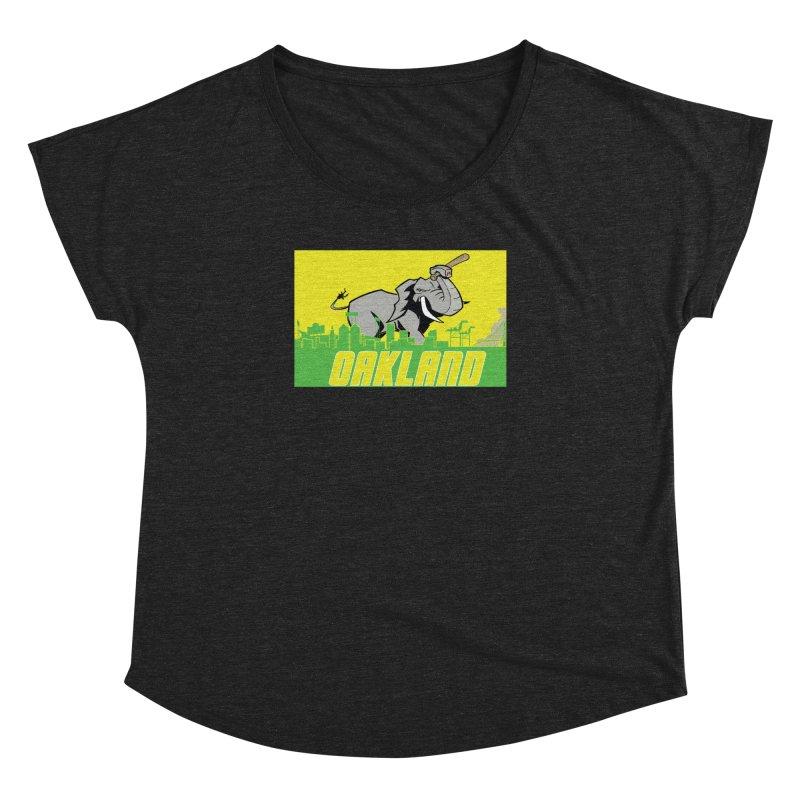 Oakland Women's Dolman Scoop Neck by Mike Hampton's T-Shirt Shop