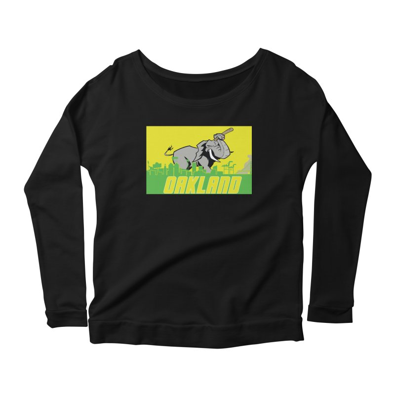 Oakland Women's Scoop Neck Longsleeve T-Shirt by Mike Hampton's T-Shirt Shop