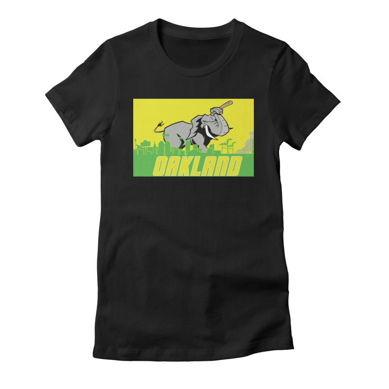 Oakland Women's Fitted T-Shirt by Mike Hampton's T-Shirt Shop
