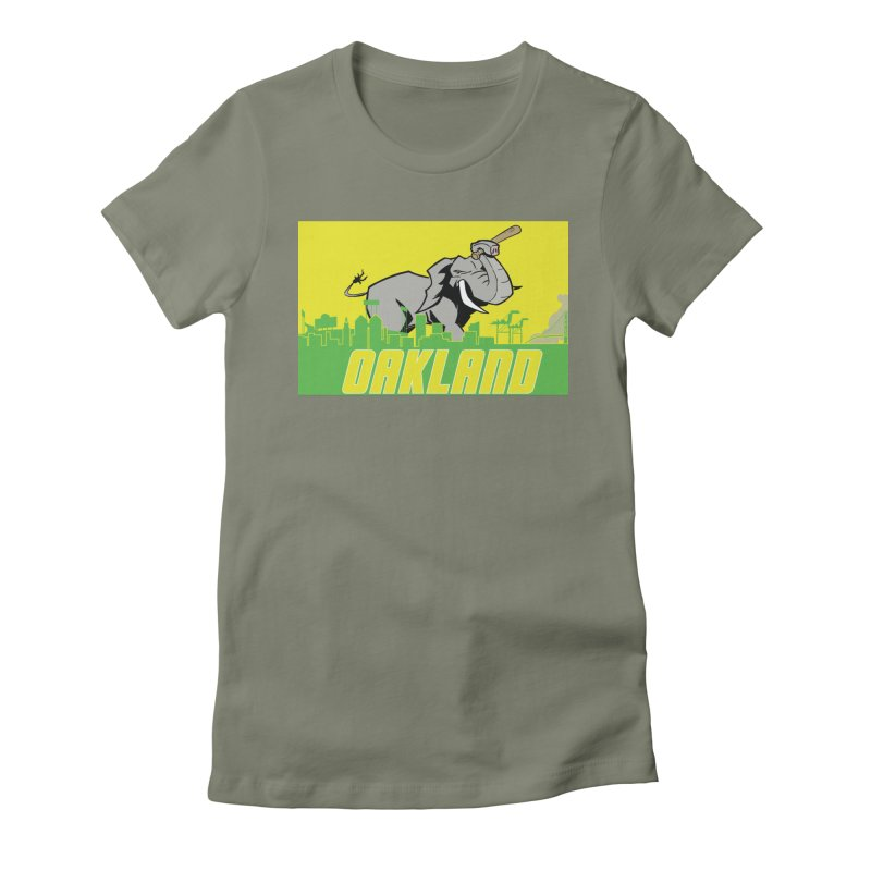 Oakland Women's Fitted T-Shirt by Mike Hampton's T-Shirt Shop