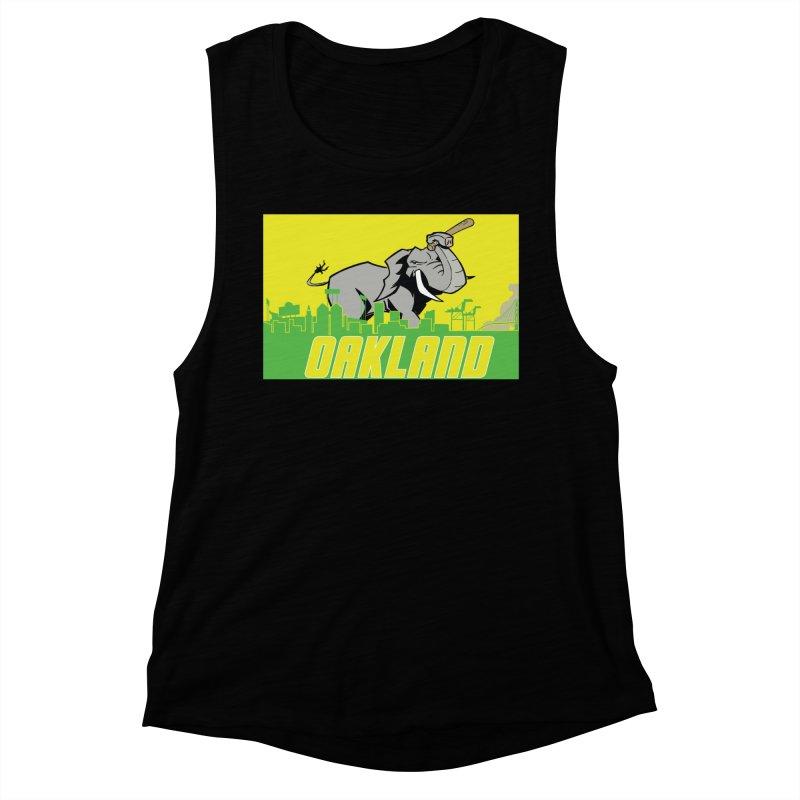 Oakland Women's Muscle Tank by Mike Hampton's T-Shirt Shop