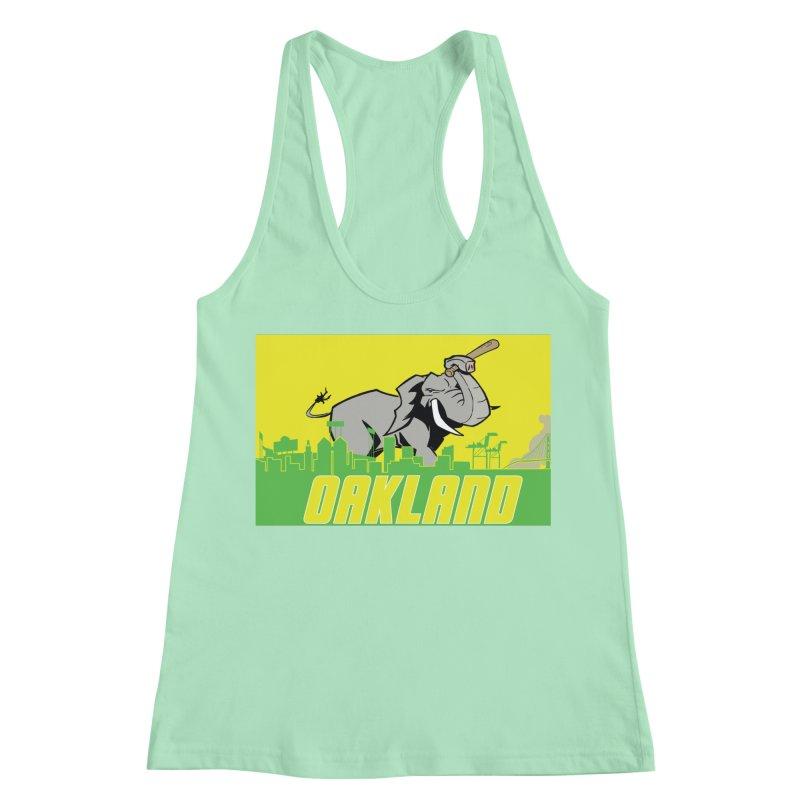 Oakland Women's Racerback Tank by Mike Hampton's T-Shirt Shop