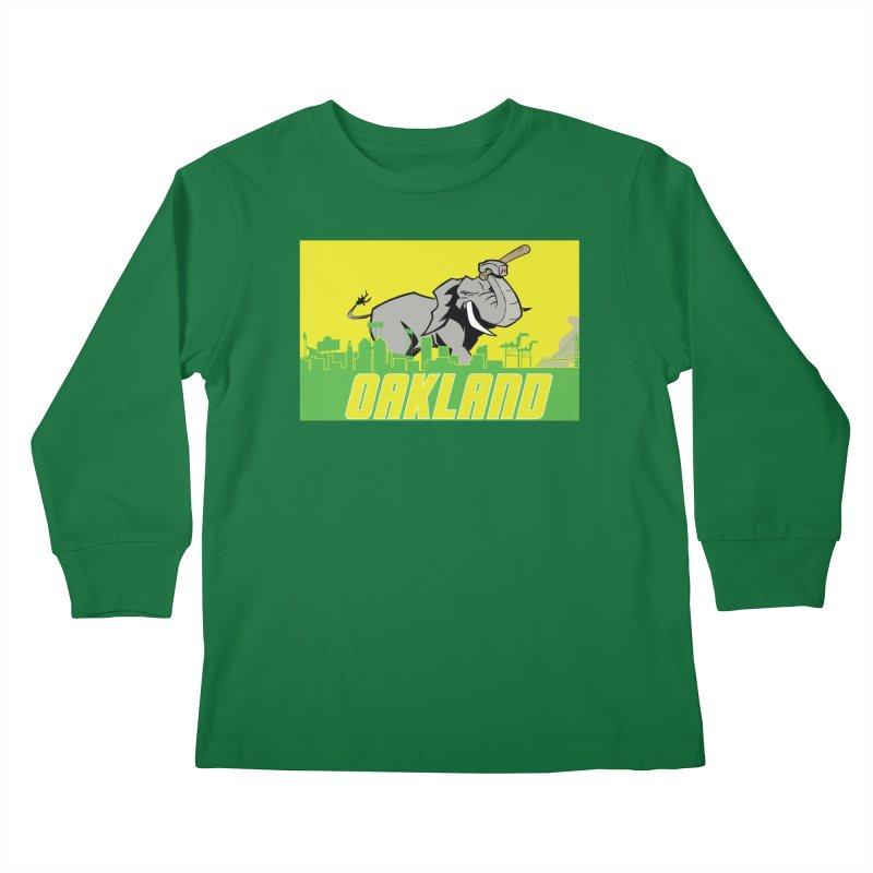 Oakland Kids Longsleeve T-Shirt by Mike Hampton's T-Shirt Shop