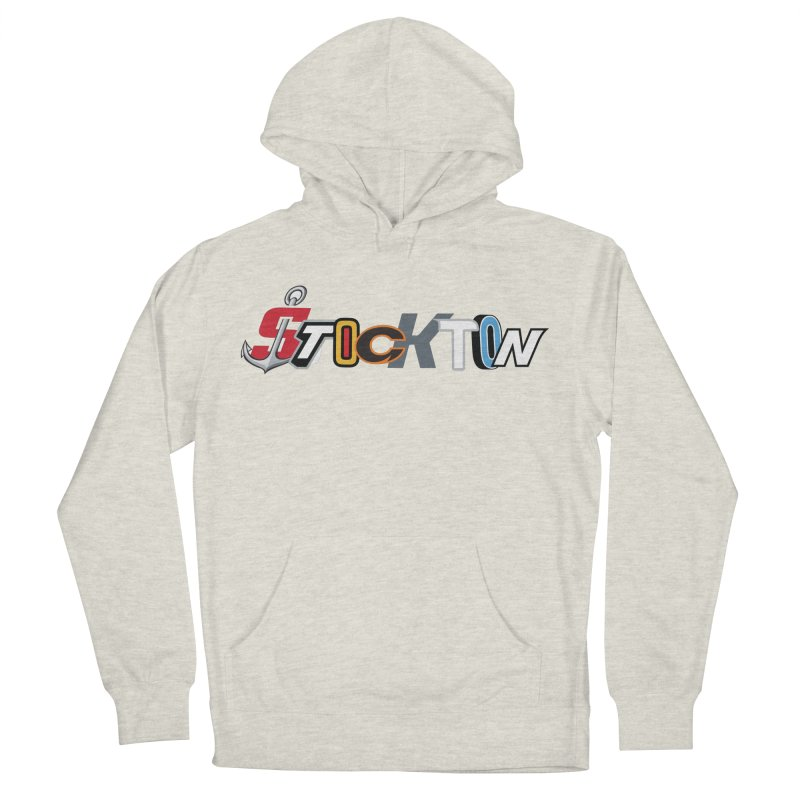 All Things Stockton Men's French Terry Pullover Hoody by Mike Hampton's T-Shirt Shop