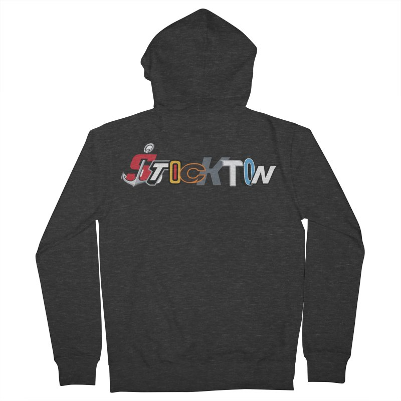 All Things Stockton Men's Zip-Up Hoody by Mike Hampton's T-Shirt Shop