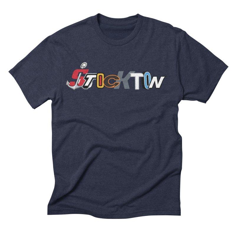 All Things Stockton Men's Triblend T-Shirt by Mike Hampton's T-Shirt Shop