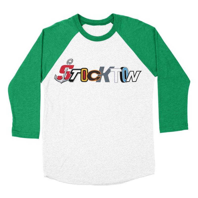 All Things Stockton Women's Baseball Triblend Longsleeve T-Shirt by Mike Hampton's T-Shirt Shop