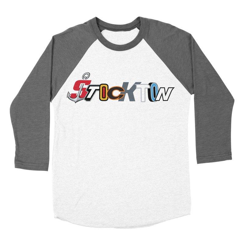 All Things Stockton Men's Baseball Triblend Longsleeve T-Shirt by Mike Hampton's T-Shirt Shop