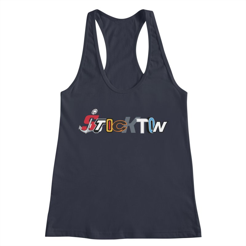 All Things Stockton Women's Racerback Tank by Mike Hampton's T-Shirt Shop
