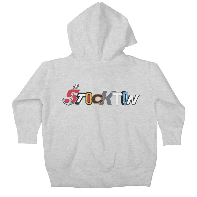All Things Stockton Kids Baby Zip-Up Hoody by Mike Hampton's T-Shirt Shop