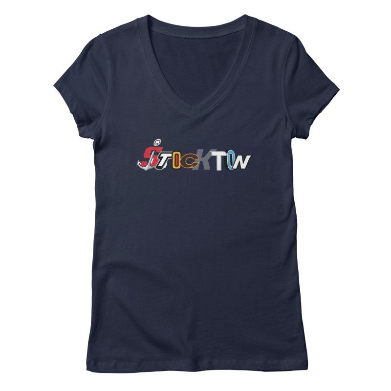 All Things Stockton Women's V-Neck by Mike Hampton's T-Shirt Shop