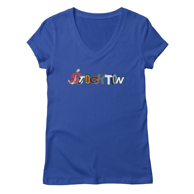 All Things Stockton Women's V-Neck by Mike Hampton's T-Shirt Shop