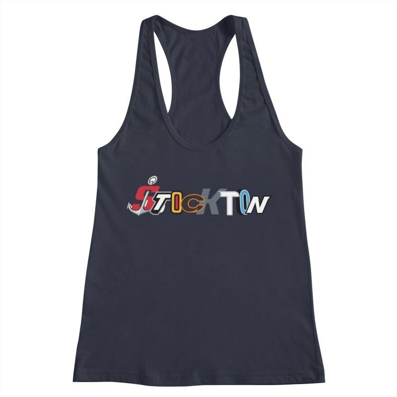 All Things Stockton Women's Racerback Tank by Mike Hampton's T-Shirt Shop