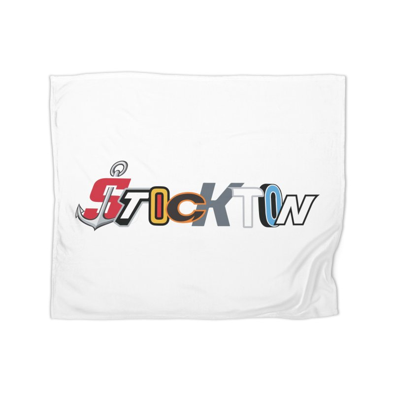 All Things Stockton Home Blanket by Mike Hampton's T-Shirt Shop