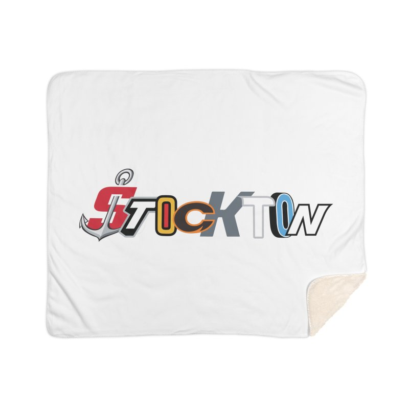 All Things Stockton Home Sherpa Blanket Blanket by Mike Hampton's T-Shirt Shop