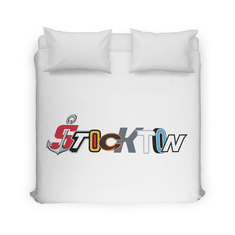 All Things Stockton Home Duvet by Mike Hampton's T-Shirt Shop